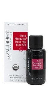 Rosa Mosqueta Rose Hip Seed Oil Aubrey Organics 1 oz Bottle
