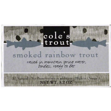 Coles Cole's Trout Smoked Rainbow Trout, 3.2 oz, (Pack of 10)