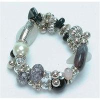 IWGAC 049-40061 Silver Tone and Beads Bracelet