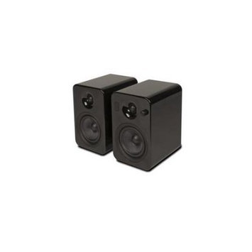 Kanto Distribution Kanto YUMI Powered Bookshelf Speakers w/Bluetooth 4.0, Gloss Black