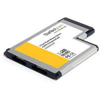 StarTech Startech 2 Port Flush Mount ExpressCard 54mm eSATA II Controller Adapter Card