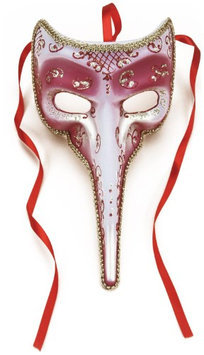 Loftus 196203 Long-Nosed Rose Venetian Adult Mask