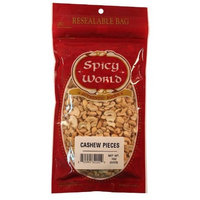Spicy World Cashew Pieces, 7-Ounce Bags (Pack of 12)