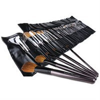 Bundle Monster New 34pc Pro Makeup Eye Shadow Brush Set + Cosmetic Brush Case