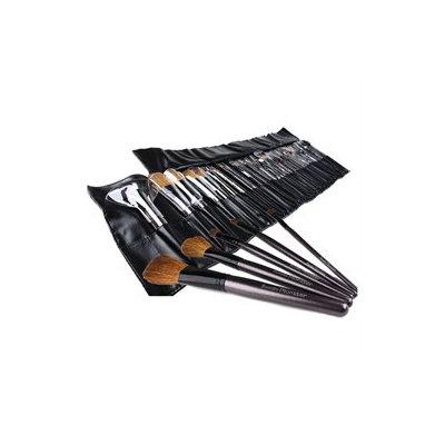 Bundle Monster New 34pc Pro Makeup Eye Shadow Brush Set + Cosmetic Brush Case