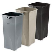 Rubbermaid Commercial Untouchable Square Container - Gray - 23 gal.