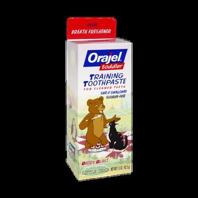 Orajel Toddler Little Bear Berry Blast Training Toothpaste
