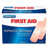 Physicians Care PhysiciansCare First Aid Plastic Bandages, Box of 100, 1