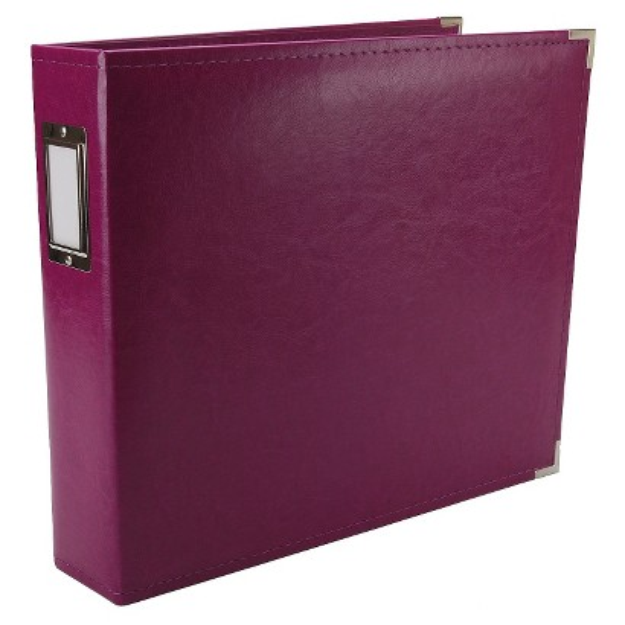 We R Memory Keepers We R Faux Leather 3 Ring Binder - Plum (12