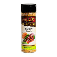 Red Monkey Foods Savory Steak Seasoning, 4 -Ounce Bottles (Pack of 6)