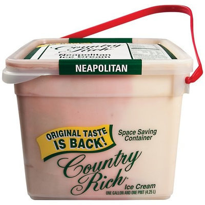 Country Rich Neapolitan Ice Cream, 9 pt
