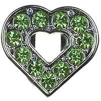 Dickens' Closet Create-a-Collar 10mm Green Open Heart Charm