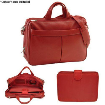 Royce Leather 'Blair' Laptop Briefcase - 643-RED-4
