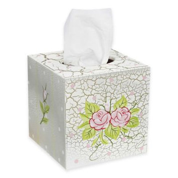 Teamson Kids Girls Tissue Cover - Crackled Rose Room Collection