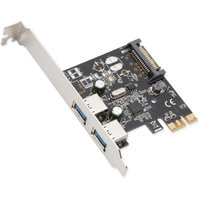 SYBA Multimedia, Inc. 2 Port USB 3.0 and PCI-Express Card 2.0 x 1 Renesas Chipset with Full and Low Profile