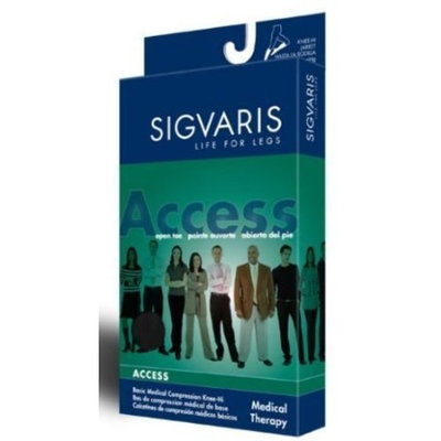 Sigvaris 970 Access Series 30-40 mmHg Men's Closed Toe Knee High Sock Size: Large Short (LS)
