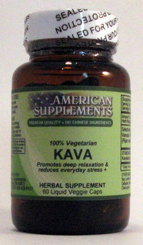 Kava No Chinese Ingredients American Supplements 60 VCaps