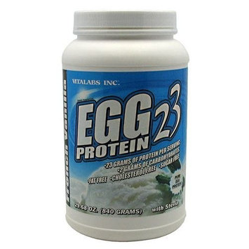 Egg White Protein, French Vanilla, 2.15 lb From Vitalabs