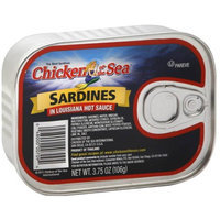 Generic Chicken of the Sea Sardines in Louisiana Hot Sauce, 3.75 oz, (Pack of 12)