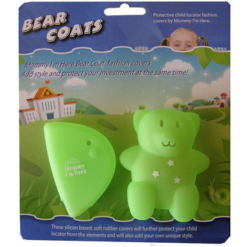 Mommy I'm Here Bear Coats Child Locator Covers (Green)