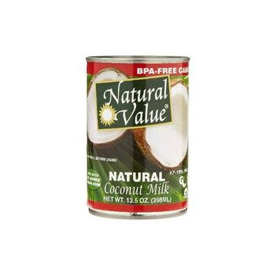 Natural Value BG16230 Natural Value Coconut Milk - 12x13.5OZ