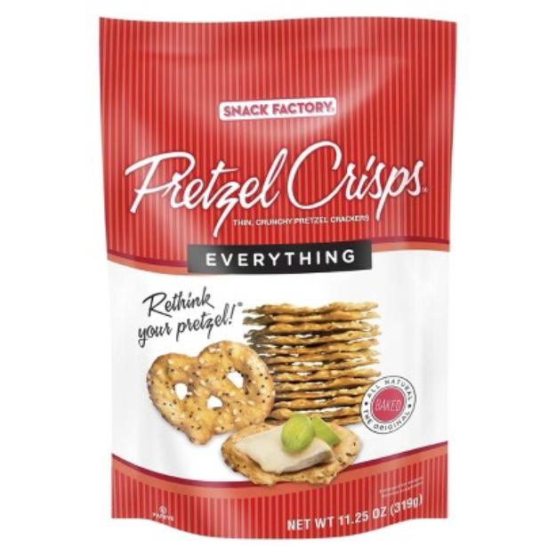 Pretzel Crisps Everything Pretzel Crackers 11.25 oz