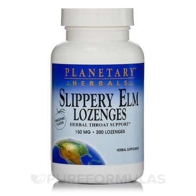 Planetary Herbals Slippery Elm 150 mg Lozenges, Tangerine