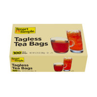 Smart & Simple Tagless Tea Bags, 100 ct