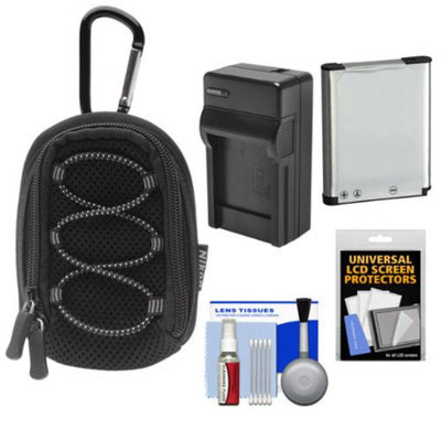 Nikon Coolpix All Weather Sport Digital Camera Case with EN-EL19 Battery + Charger + Kit for S32, S100, S3500, S4300, S5200, S5300