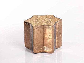 Zodax Star Candle Jar / Shiny Dark Gold