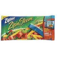 SC Johnson ZIPLOC ZIP'N STEAM MICROWAVE STEAM COOKING BAGS- 7 CT LARGE 10