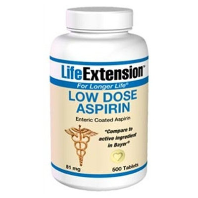 Life Extension, LOW DOSE ASPIRIN 81MG (ENTERIC) 500 TABLETS