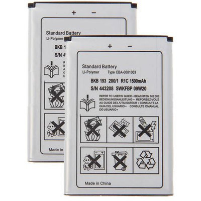 Battery for Sony Ericsson BST-41 (2-Pack) Replacement Battery