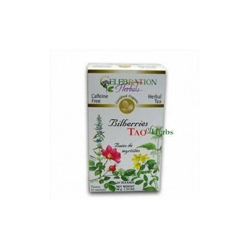 ORGANIC CONNECTIONS,LTD Celebration Herbals, Herbal Tea, Bilberries, Caffeine Free, 24 Tea Bags, 1.34 oz (38 g) ( Multi-Pack)
