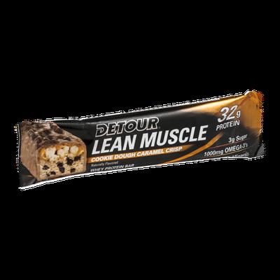 Detour Lean Muscle 32g Protein Whey Proten Bar Cookie Dough Caramel Crisp