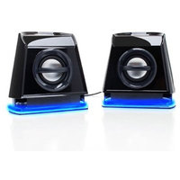 Accessory Power GOgroove BassPULSE 2MX Computer Speaker System with Universal USB Power and Glowing LED Base for Laptops and Desktops