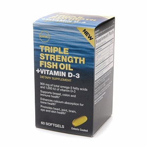 GNC Triple Strength Fish Oil + Vitamin D3