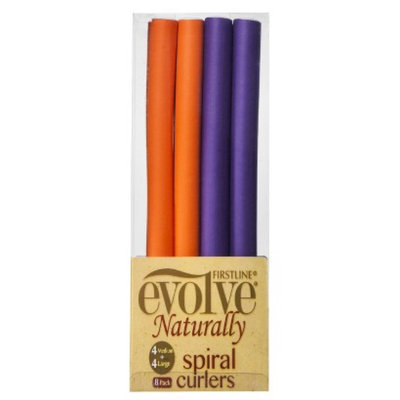 Firstline Evolve Naturally Spiral Curlers - Medium and Large (8 Pack)