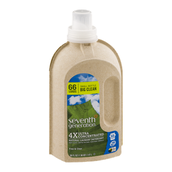 Seventh Generation Natural Laundry Detergent Free & Clear 66 Loads