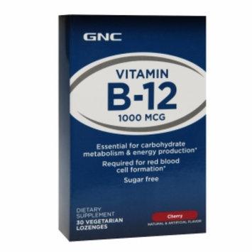 GNC Vitamin B-12 1000mcg Vegetarian Lozenges, Cherry, 30 ea