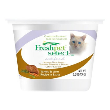 Fresh Pet Select Brand Dog Food Fresh Pet Select Turkey & Liver Recipe In Sauce Cat Food, 5.5 oz