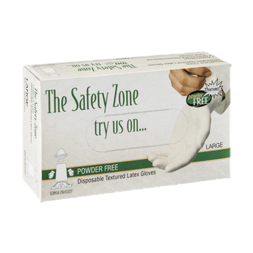The Safety Zone Latex Gloves Disposable Large - 100 CT