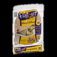 Flatout Flatbread Wraps Honey Wheat - 6 CT