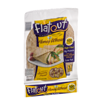 Flatout Flatbread Wraps Honey Wheat - 6 CT