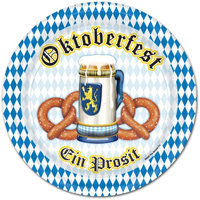 Beistle - 58007 - Oktoberfest Plates- Pack of 12