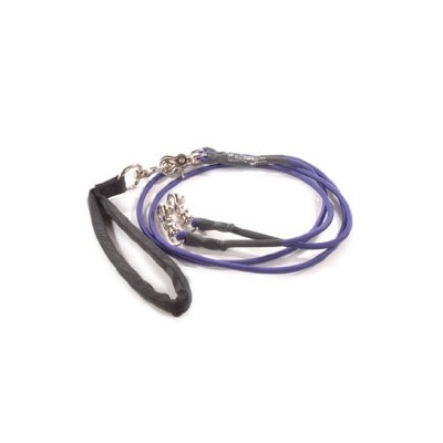 Bungee Pupee BP105D Double Small Up to 25 Lbs - Purple 4 ft. Leash