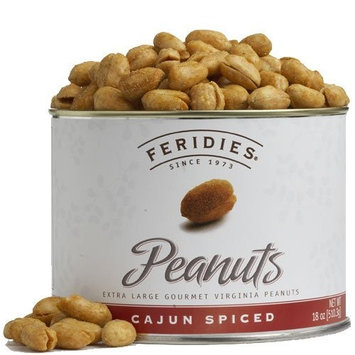 FERIDIES Classic Cajun Virginia Peanuts, 18-Ounce Cans (Pack of 2)