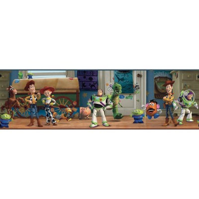 York Wall Coverings Toy Story Andy's Room Wallpaper Border - Multicolored