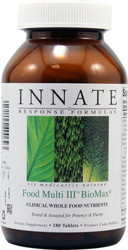 Innate Response Formulas Food Multi III BioMax 180 Tablets