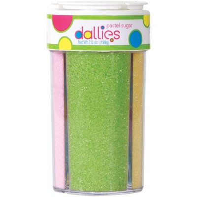Xcell International Corp Dallies 4 in 1 Pastel Sanding Sugars, 7 oz